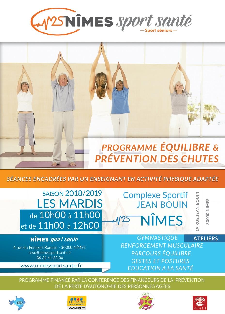 Affiche programme long équilibre et prévention des chutes