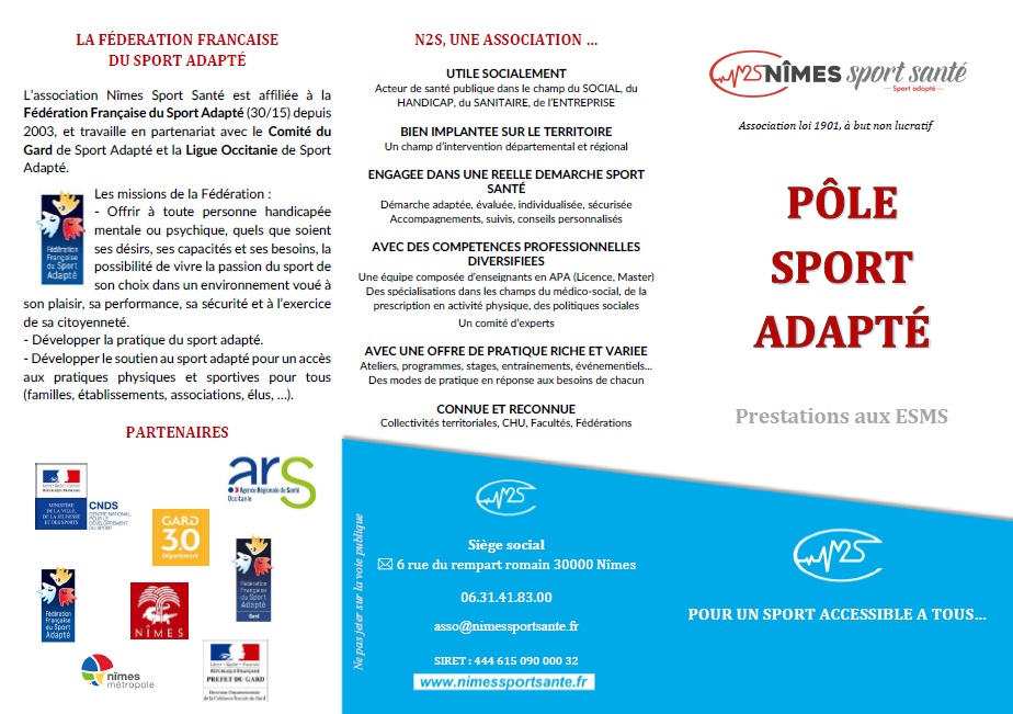 PROGRAMME SPORT ADAPTE Page 1