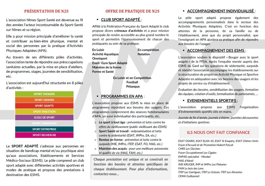 PROGRAMME SPORT ADAPTE Page 2